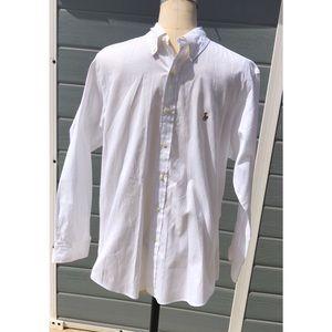 Ralph Lauren white button up shirt